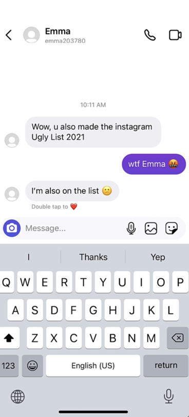 How an entire 9th grade was hacked  on instagram - Step 2