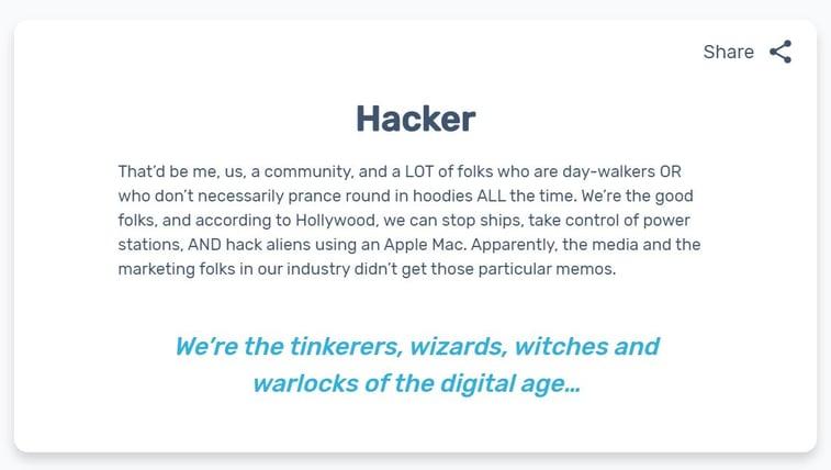 hacker example